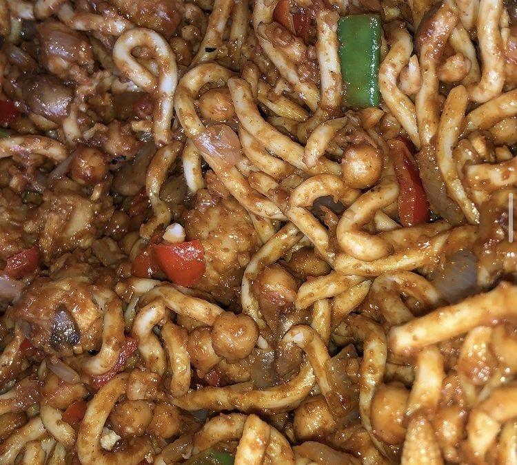 Udon Peanut Noodles